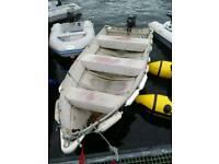 Aluminium Boat/Tender with Oars and Rollocks