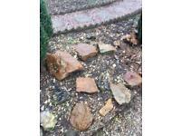 Decorative heavy stones for the garden