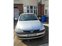 1 Litre Vauxhall Corsa, Low Mileage, Perfect First Car, Seat Covers Included.