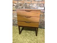 Stylish mid century 3-drawer chest, cupboard, by 'Europa' furniture
