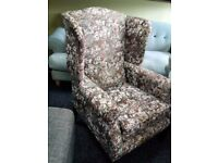 Wingback chair not used