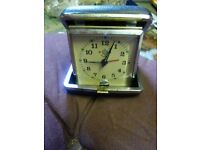 lovely old vintage collectible portable travel clock