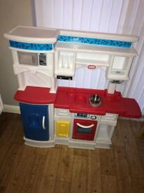 Kids play kitchen with food and accessories
