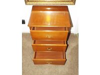 Stag Richmond 3 Drawer Bedside Cabinet