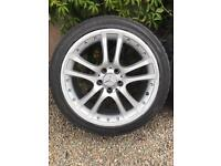 """18"""" 5x112 Mercedes AMG Alloy wheels and tyres"""