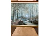 Large woodland scene picture.