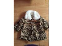 Leapord print fur coat