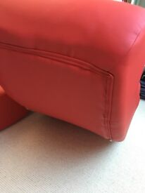 Leather Rocking Chair 2 x Red from Dwell