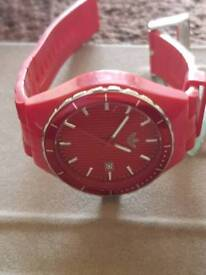 Adidas red cambridge watch
