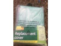 Polyethylene grow house replacement cover