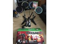 Rock Band 4: Band in a Box for Xbox One (Wireless Drum Kit, Guitar, Mic and Game)