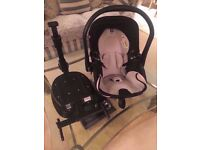 Kiddy Evo Lunafix Baby Car Seat with Isofix fitting. RECLINING SEAT