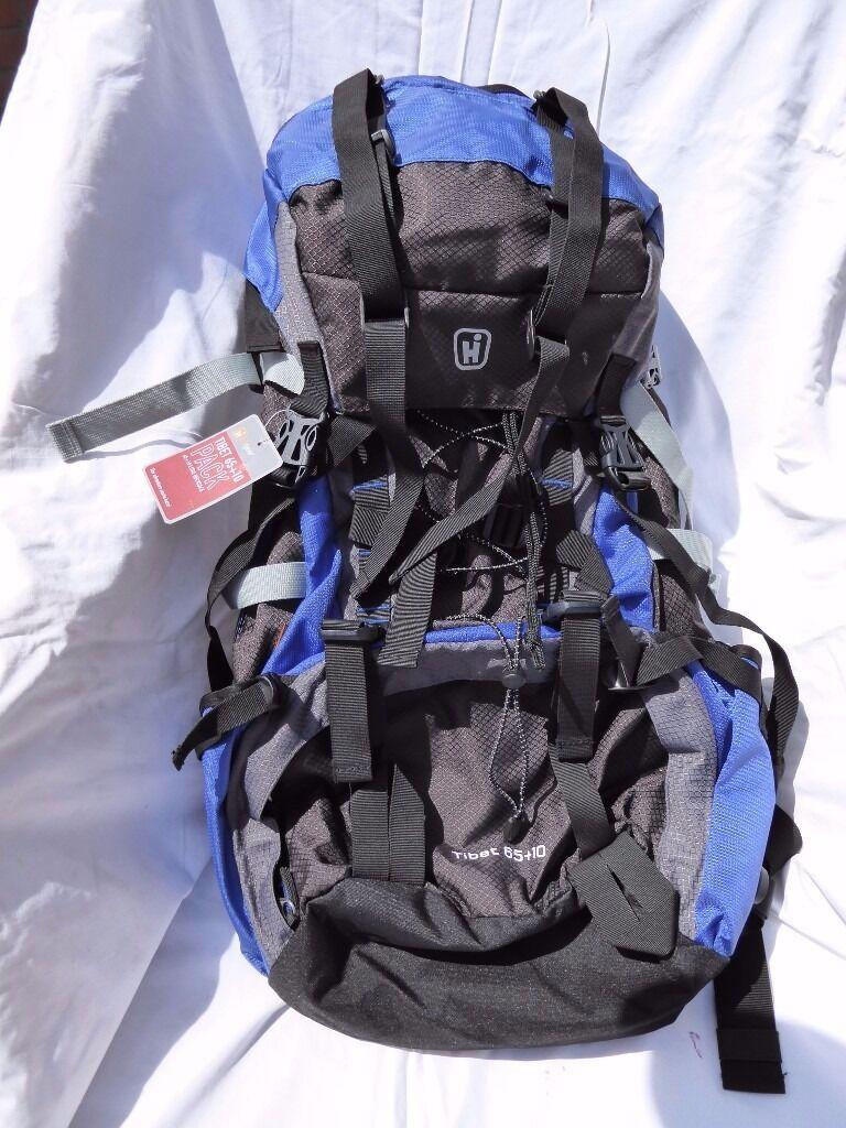 Grey/Blue rucksack; new still tagged
