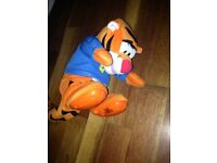 Rolling and talking tigger