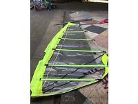 Windsurf challenger sail and carbon fiber sacche