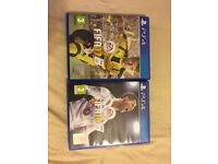 FIFA17 & FIFA18 disc for PS4