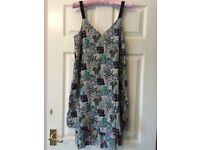 NEW WAREHOUSE PATTERENED DRESS SIZE 10