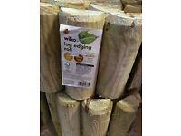 Wilko Wood Log Rolls - Garden Decorative Border - 1.8M x 0.15M - £15 Bulk Sale