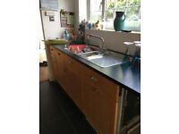 paula rosa shaker style used kitchen with black granite worktops