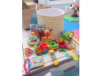 Baby, toddler toy bundle and Miele large cloud storage bag