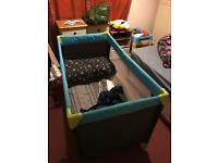 Hauck travel cot with Argos mattress