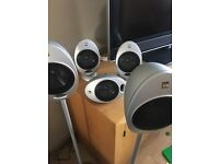 * Kef 5.1 Speakers And Subwoofer *