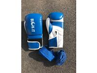 12oz Blok-It boxing gloves and wraps