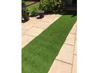 ARTIFICIAL GRASS ASTRO TURF SUPER LUXURY OAKHAM 5MTRS X 0.9MTRS 4.5M2 -NEW