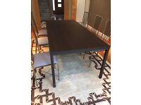 Piero Missoni designer Dining table + 6 chairs