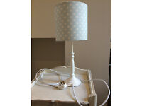 Cath Kidston blue star lamp shade with John Lewis base