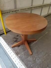 Coffee Table - Wooden Round Top Coffee Table