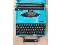 Smith Corona green/turquoise Typewriter