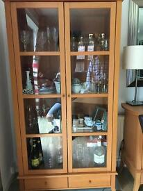 Glass Cabinet and side board storage unit