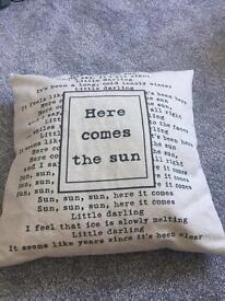 Here comes the sun cushin