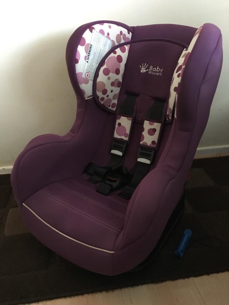 Baby Weavers Car Seat With Harness Alarm