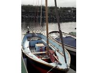 Drascombe Driver sail boat. Inboard Engine and bilge plates. Excellent condition and sound trailer