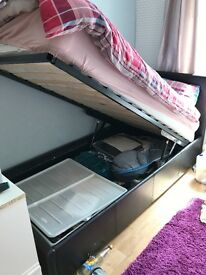 single gas lifting storage bed in good condition