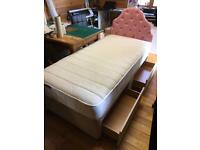Single Bed with twin draw storage like new!