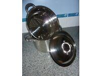 Brand new Jean patrgue large cooking pot steamer