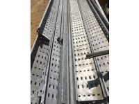 Large quantity of various sizes of cable tray