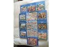 17 Gibson Jigsaw Puzzles. Mike Jupp, Dick Bogie and more. In excellent condition. Can deliver
