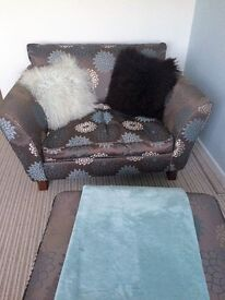 Marks and Spencer's 2 seater sofa and stool/storage box