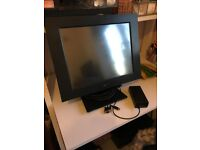"""15"""" TFT DigiPos LCD Monitor. Model 741A plug adaptor is missing"""