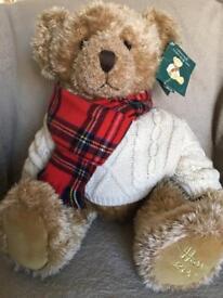 Collectible HARRODS 2002 Christmas Teddy Bear - Giles!