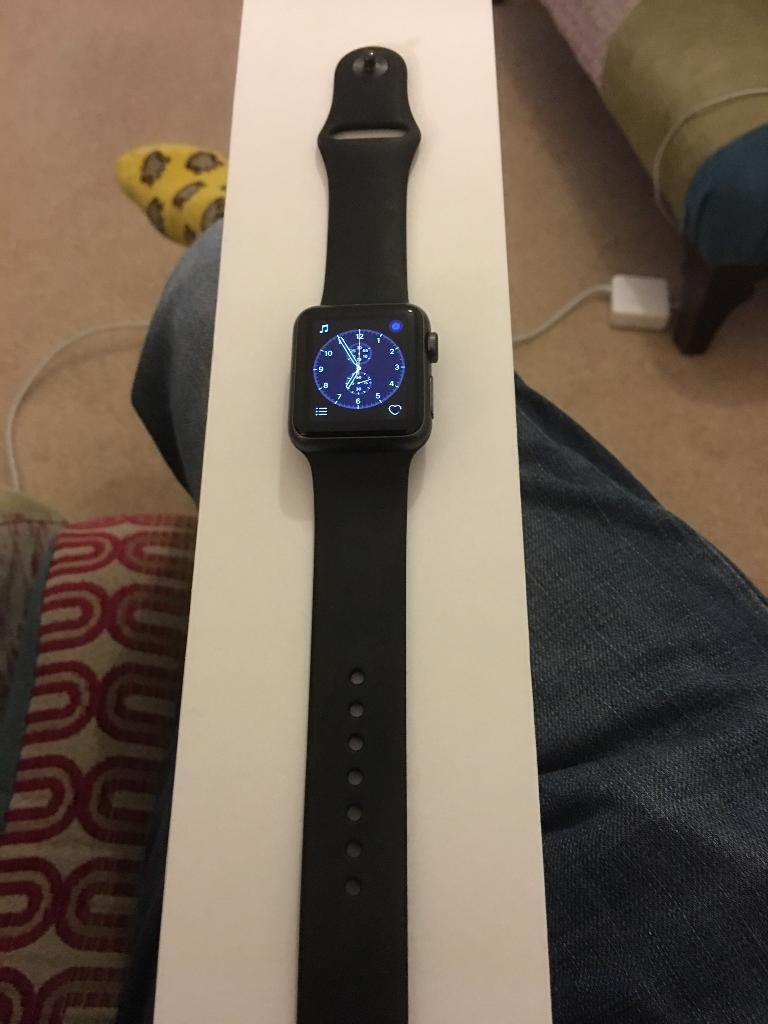 Apple Watch 38mm black sportsin Standish, ManchesterGumtree - Apple Watch black 38 mm its the sport one its in new condition well looked after boxed with charger and lead series 7000Collection from standish
