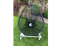 Garden chair Lima rattan in black brand new