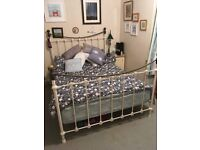 Luxury Double Metal Bed with Brass Finials & including Mattress
