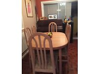 Reduced Dining Table six chairs Extendable Limed Oak