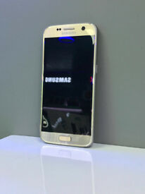 samsung galaxy S 7 SIM FREE GRADE A gold platinum comes with charger and three months warranty