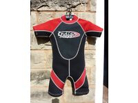 Childs wet suit and pumps